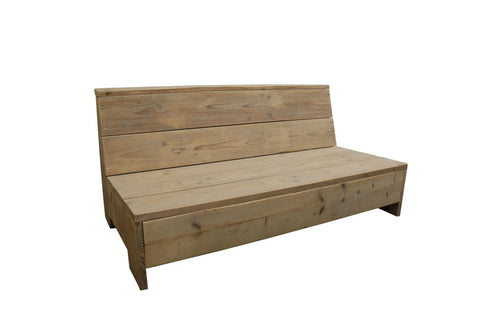 Loungebank steigerhout Tom