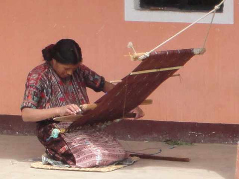Backstrap weaving in the western highlands of Guatemala