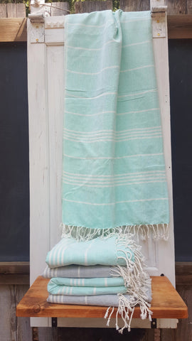 New! Vintage Agua Fouta, Handwoven, Fair Trade