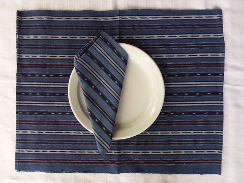 Fair Trade Handwoven Ikat Placemat set of 2
