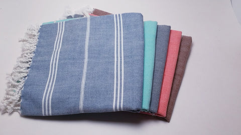 Fair Trade Handwoven Kitchen or Bath Fouta Towel in 5 colors