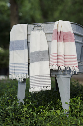 Handwoven, Vintage Style Farm House Kitchen Towels