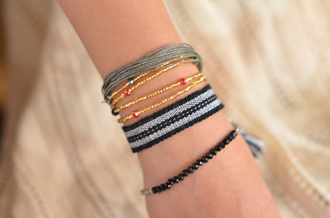 """Night Fall"" Stack Bracelet, Bracelet to Education"