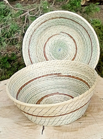 Pine Needle and Reed Basket