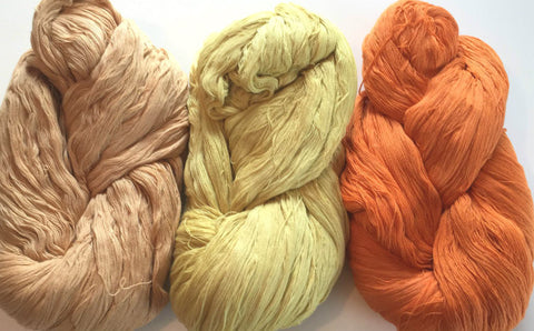 Naturally Dyed, Eco Friendly Cotton Yarn-