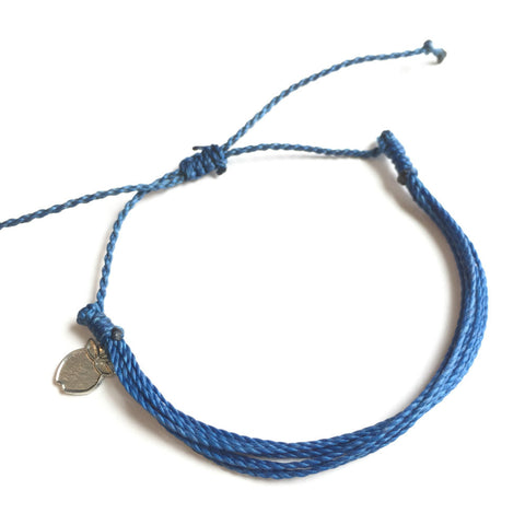 Muted blue ethical cause bracelet