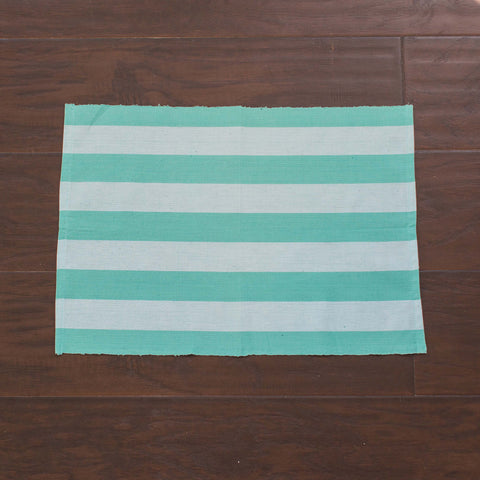 Aqua Placemat, Ethical Home Decor, Fair Trade and Handwoven, Set 4