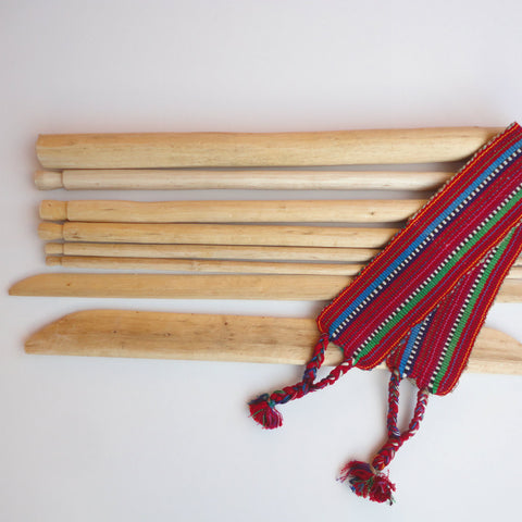 Weaving loom backstrap