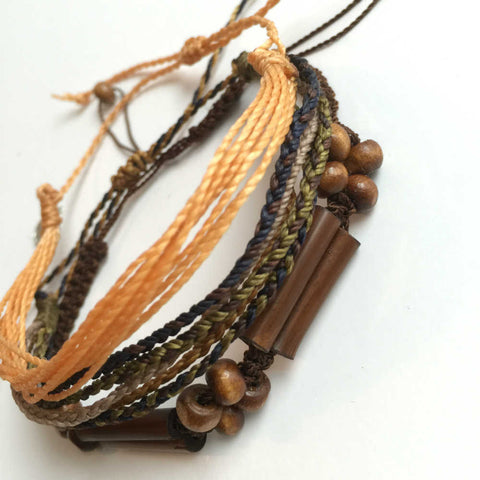 "Charity Bracelet Stack ""Bamboo Delight"" Set 3"