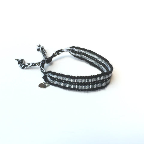 Black and Silver Rally Bracelet, Ethical Jewelry, Fair Trade