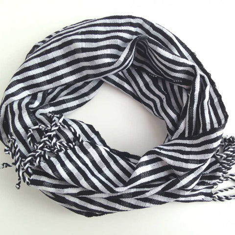 Cotton Infinity Scarf for Spring or Fall