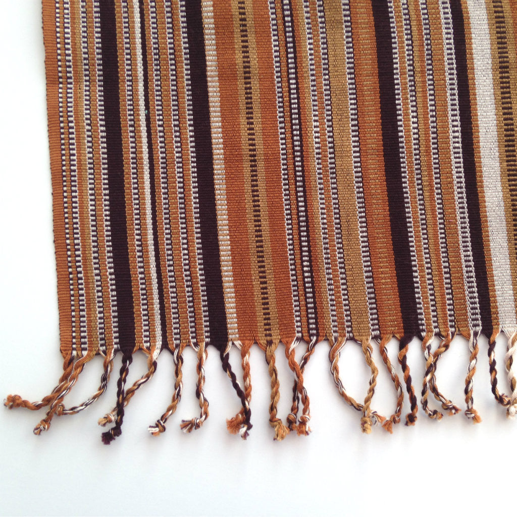 Handwoven Cloth Napkins Country Farmhouse Rustic Brown Stripe Set 2 Education And More