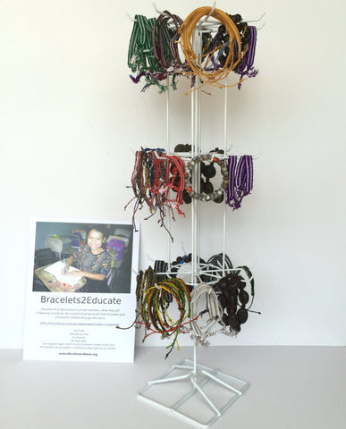Bracelets2Educate Bulk Package, Free Display