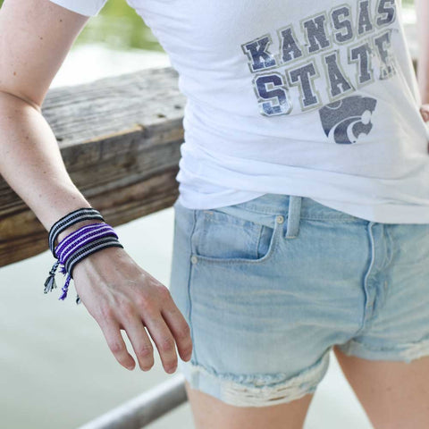 Purple-white-rally-bracelet