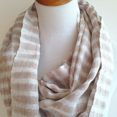 Beige Cotton Fair Trade Scarf