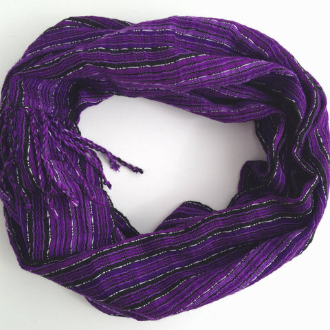 Ethically sourced Handwoven Purple Scarf