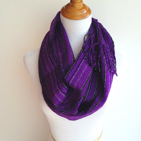 Fair Trade Fashion Purple Scarf