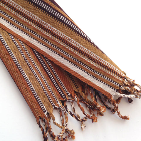Brown Stripe Fair Trade Napkins, Rustic Country