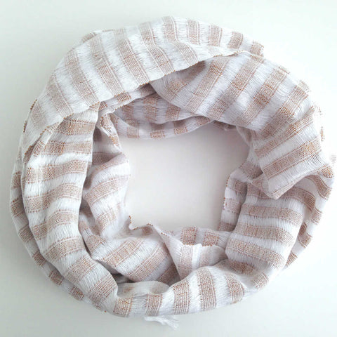 Ethical Fashion Scarf, Creamy Latte