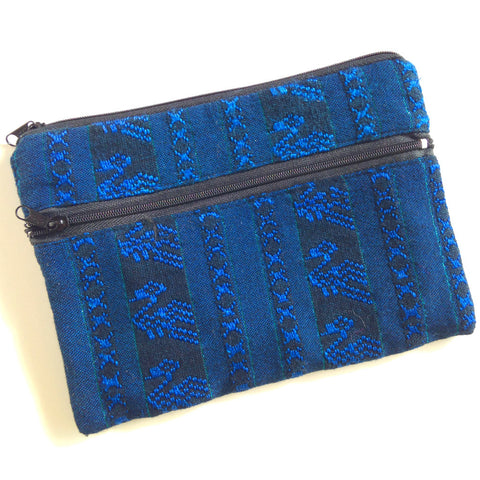Blue recycled cellphone bag