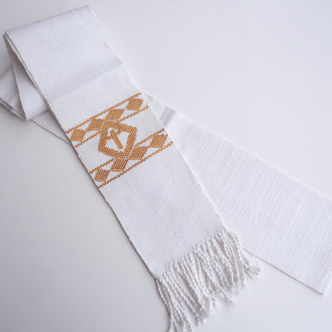 Fair Trade White Clergy Deacon Stole