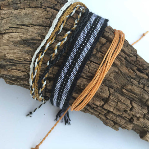 Unisex Stacking Bracelets, Fall Fever, Ethically Made Jewelry