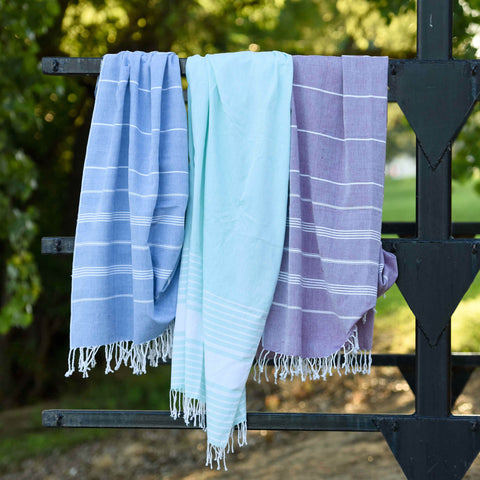 Aqua Peshtemal Turkish Towel, Ethical Fashion