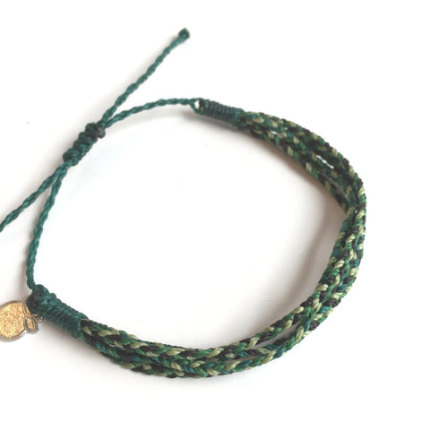 Deep Green Unisex Friendship Bracelet