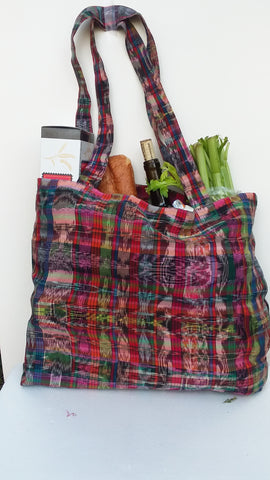Repurposed, Reusable Market or Grocery Bags,