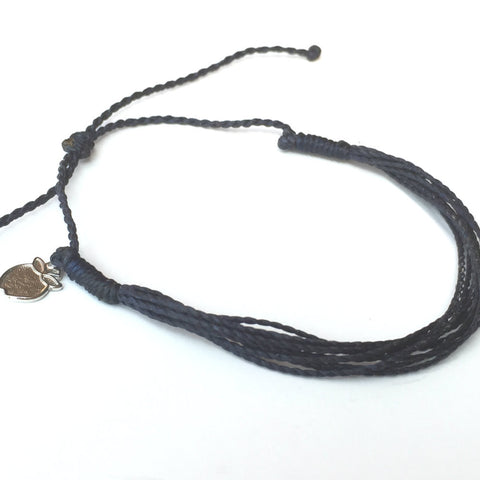 Deep Navy Blue Friendship Bracelet, Ethical Jewelry