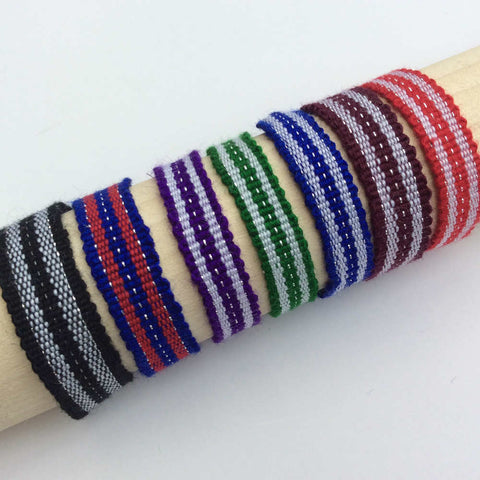 Ethically Sourced, Blue and Red Charity Cause Bracelet, Team Spirit Style