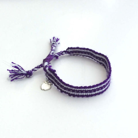 Purple Rally Bracelet, Ethical Cause Bracelet to Educate Children