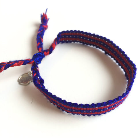 Red and Blue Ethical Cause Bracelet for Team Spirit