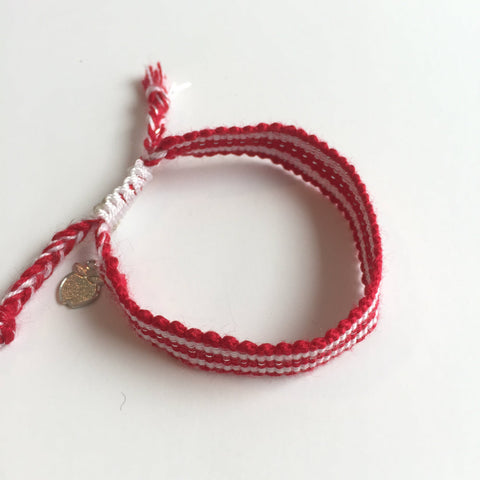 Red and White Team Spirit Fan Bracelet