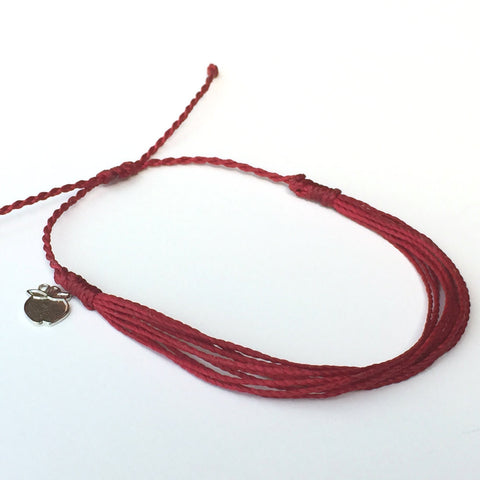 Muted Red Fair Trade Friendship Bracelet