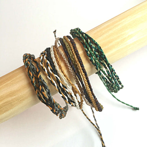 "Unisex Stack of Bracelets, ""Sand Dunes""  Fair Trade, Ethical, Set of 4"