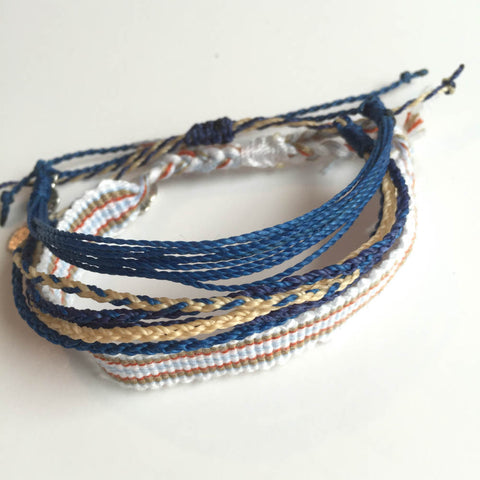"Fashion For Good Friendship Bracelets, Set 3,  ""Surfin' Time"" Blue"