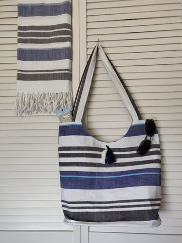 Fair Trade, Handwoven Beach Bag and Fouta/Towel Set