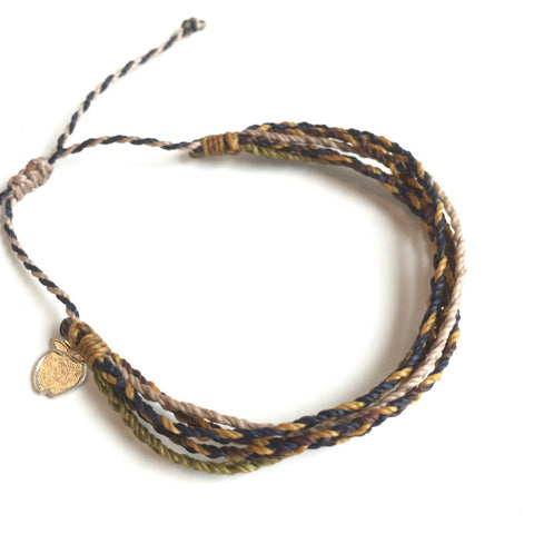 "Men's Friendship Bracelet ""Urban Leather"" Fair Trade Cause Bracelet"