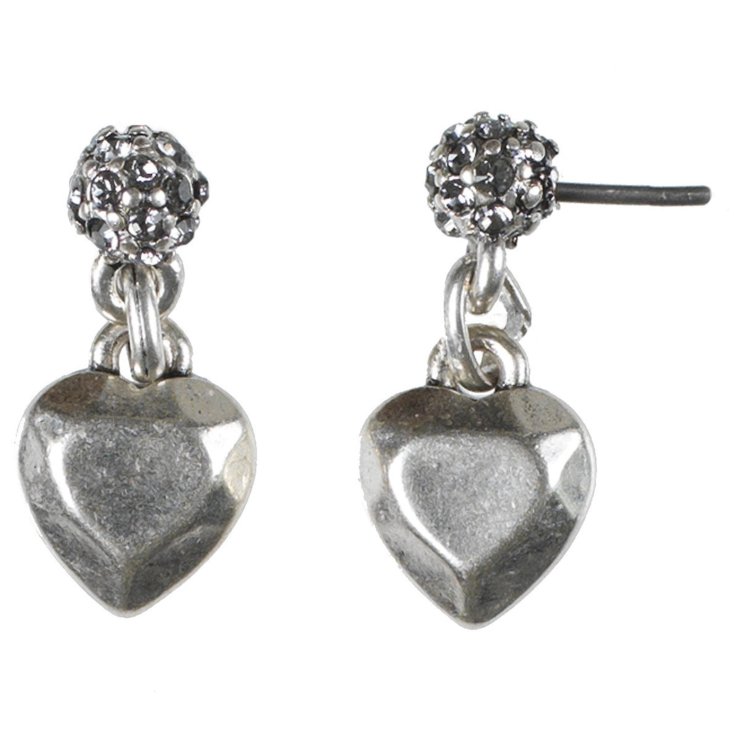 Diamond Heart Ear-stud, Crystal Ball and Heart Charm - Fifth Corner & BlueBird