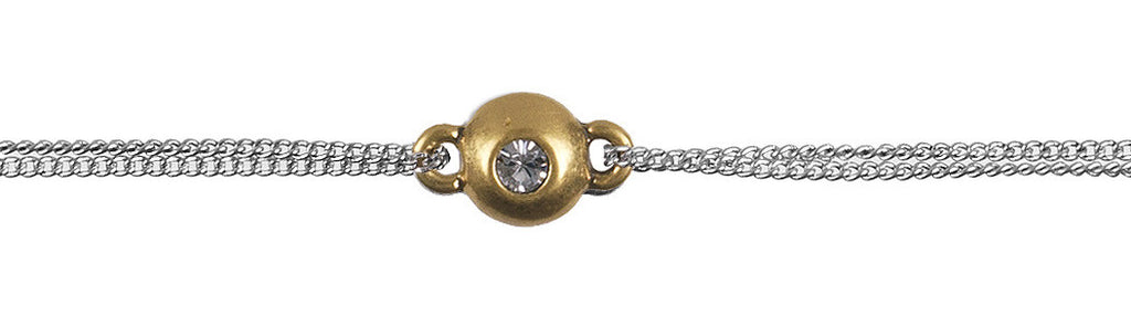 Gold Circle With Crystal Bracelet - Fifth Corner & BlueBird - 1
