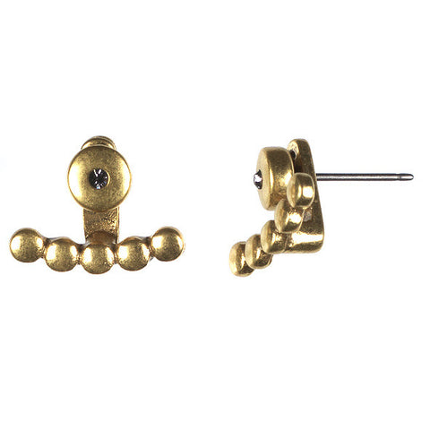 Simple Stud and Row - gold