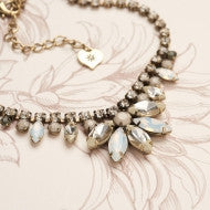 Diamante 1950s White Opal Pearl Necklace - Fifth Corner & BlueBird