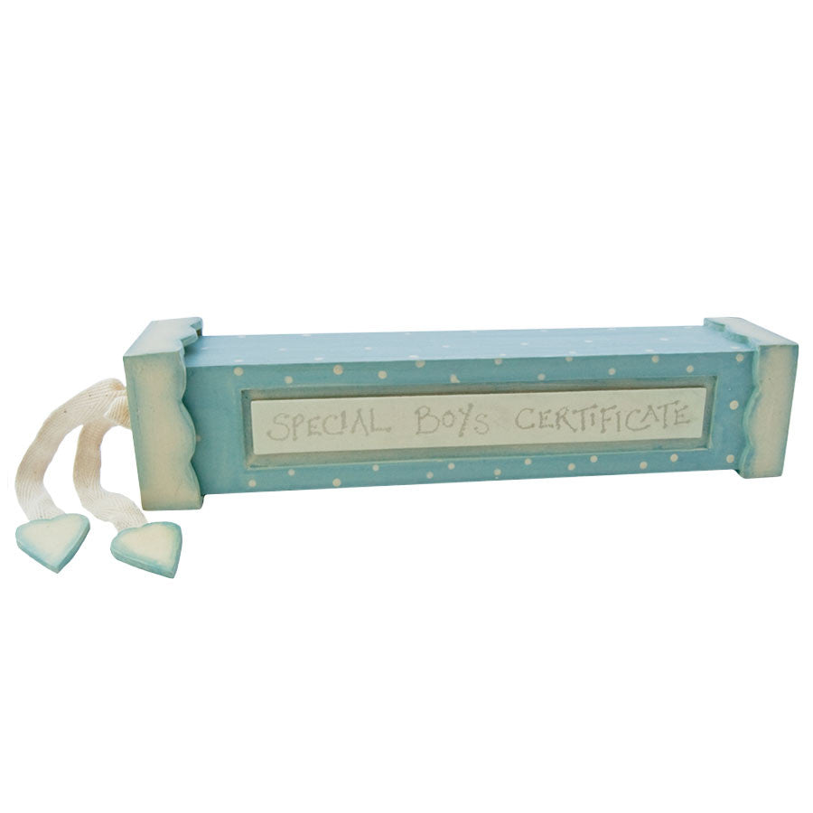 Birth Certificate Holder - Blue - Fifth Corner & BlueBird