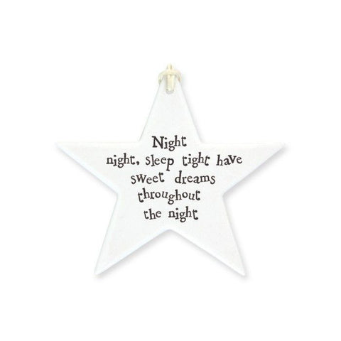 Night Night Sleep Tight - porcelain star
