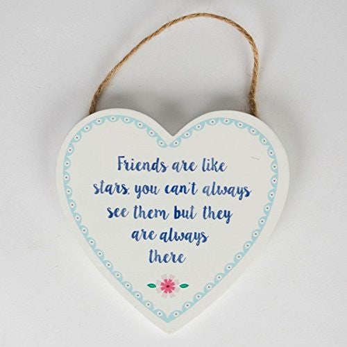 Friends Are Like Stars - Wooden Heart - Fifth Corner & BlueBird