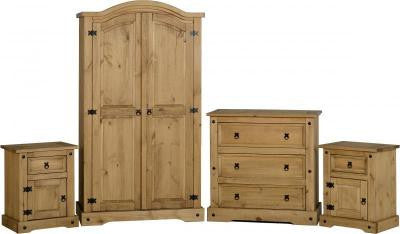 Rustic pine 4pc bedroom set