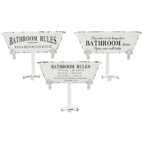 Life Lines Towel Bath Hook - Bathroom Rules