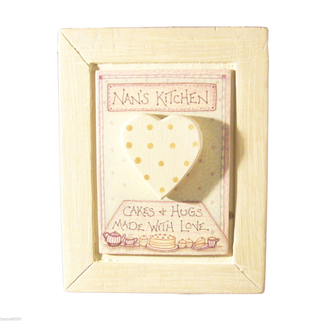 Nan's Kitchen - Wooden Hanging Plaque - Fifth Corner & BlueBird