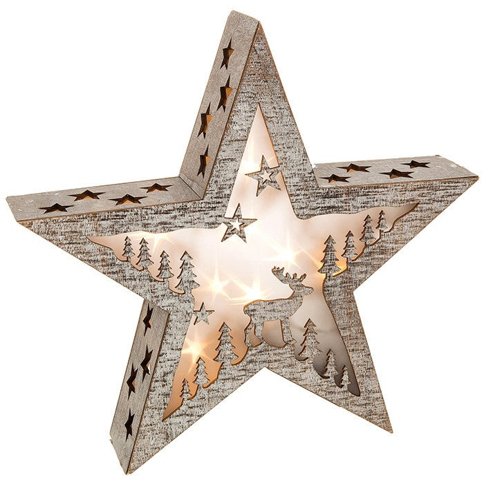 Stag Design LED Christmas Star - Fifth Corner & BlueBird